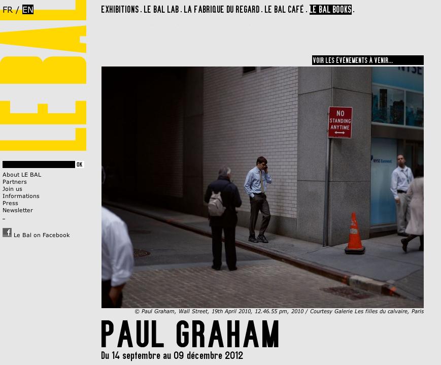 Paul Graham at Le Bal, Paris.
