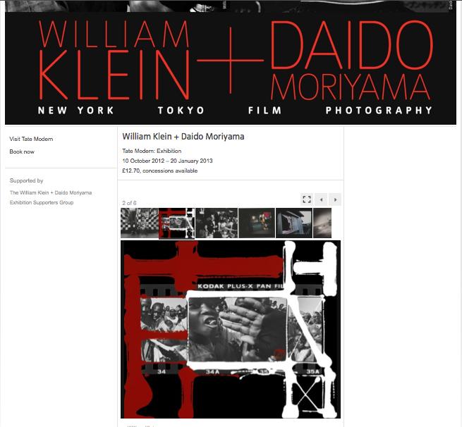 Last week to See Klein + Moriyama at Tate Modern