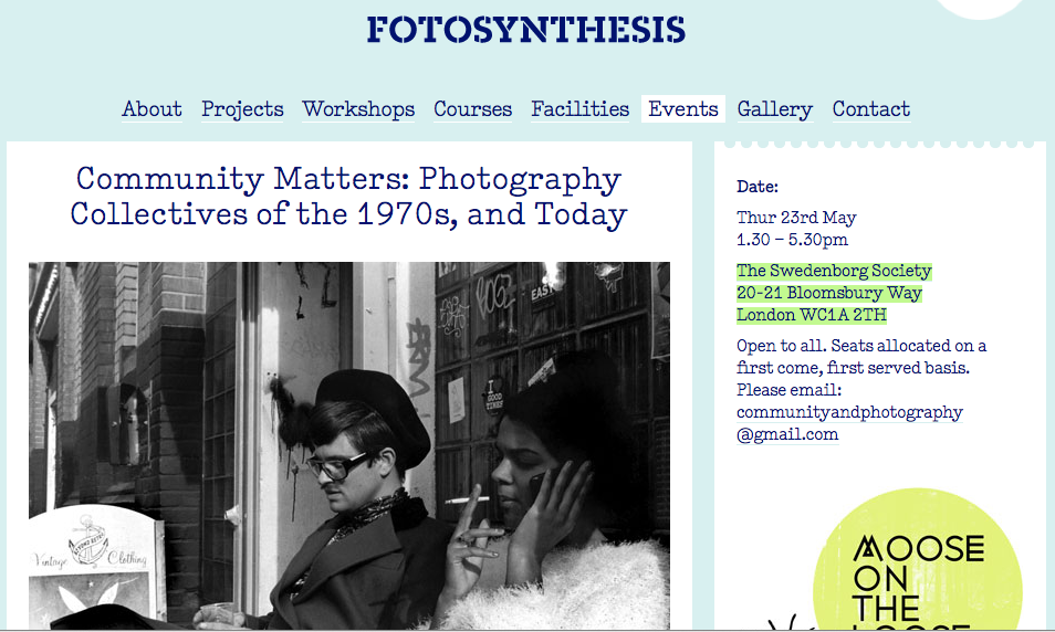 Community Matters: Photography Collectives of the 1970s, and Today