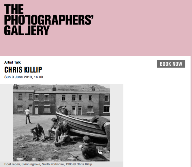 Chris Killip talk @ The Photographers Gallery