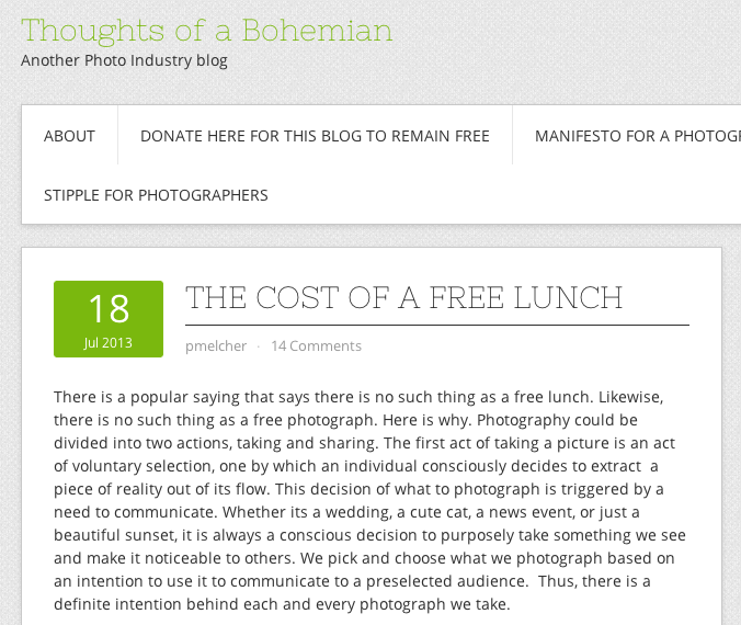 http://blog.melchersystem.com/2013/07/18/the-cost-of-a-free-lunch