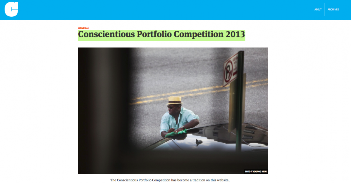 Conscientious Portfolio Competition 2013