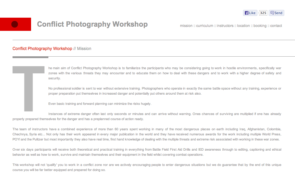 http://www.conflictphotographyworkshops.com