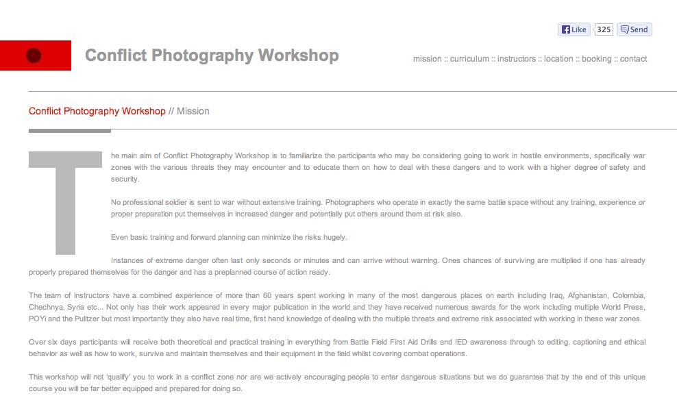 http://www.conflictphotographyworkshops.com