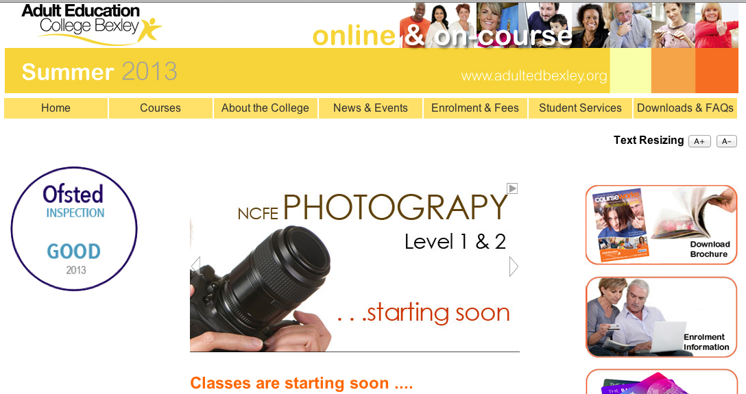 NCFE Photography courses Adult Education College Bexley