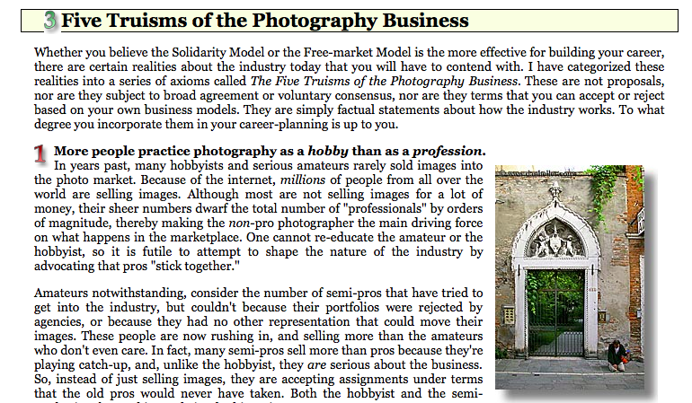 Exploring how the Photography Industry works.