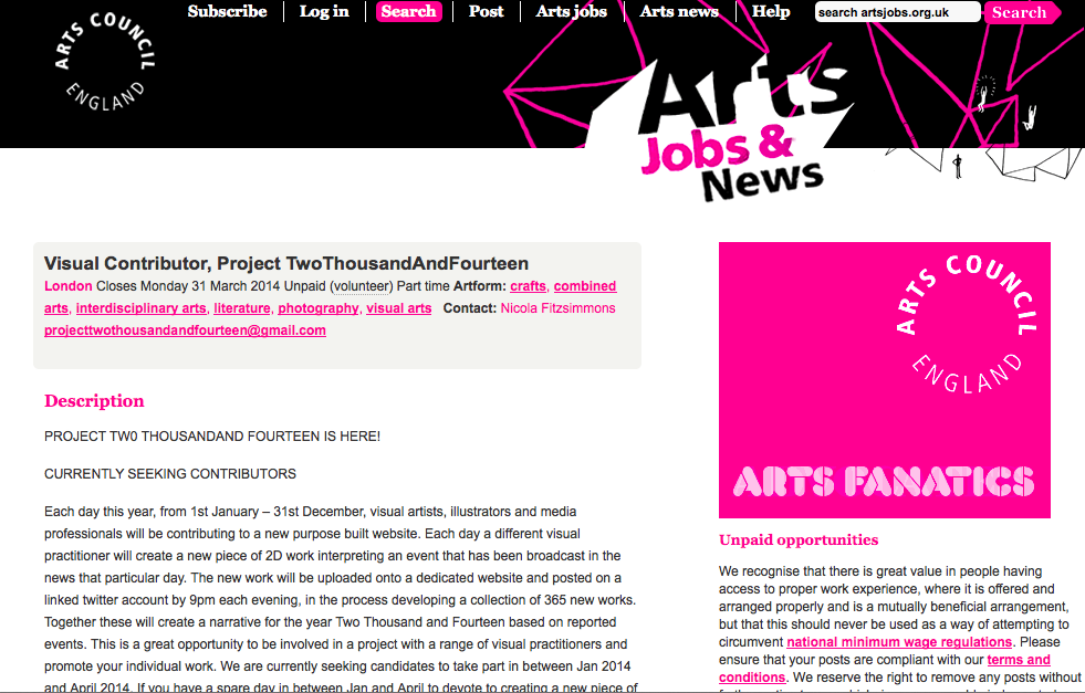 Arts council jobs