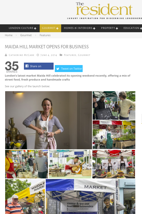 Maida Hill Market Images