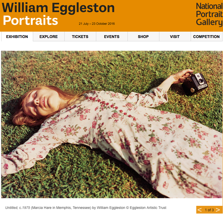 William Eggleston Portraits Exhibition